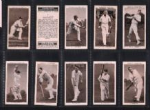 Cigarette cards Prominent Cricketers by Ogden 1938
